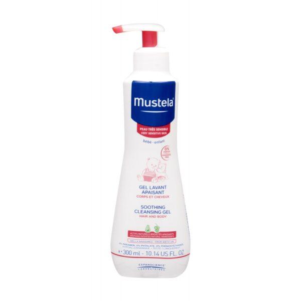 Mustela Bébé Soothing Cleansing Gel (Duššigeel, lastele, 300ml)