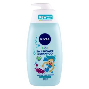 Nivea Kids 2in1 Shower & Shampoo (Duššigeel, lastele, 500ml)