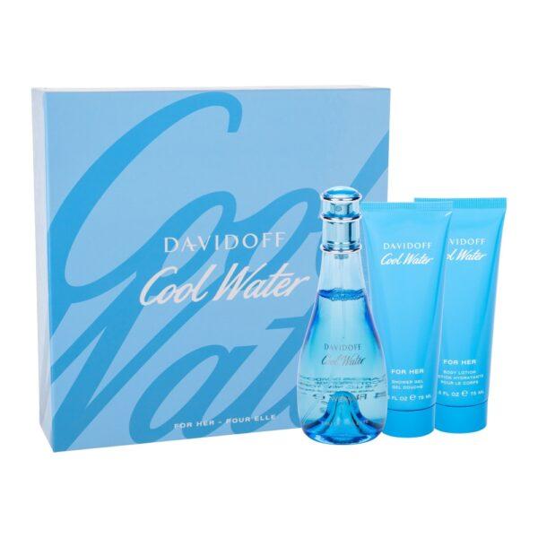 Davidoff Cool Water (Tualettvesi, naistele, 100ml) KOMPLEKT!