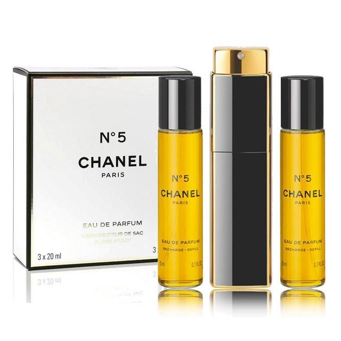Chanel No.5 (Parfüüm naistele, 3x20ml)