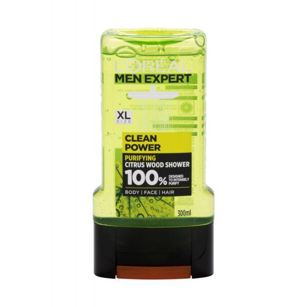 L´Oréal Paris Men Expert Clean Power (Duššigeel, meestele, 300ml)