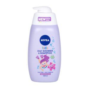 Nivea Kids 2in1 Shower & Shampoo (Duššigeel, lastele, 500ml)