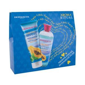 Dermacol Aroma Ritual Papaya & Mint (Duššigeel, naistele, 250ml) KOMPLEKT!