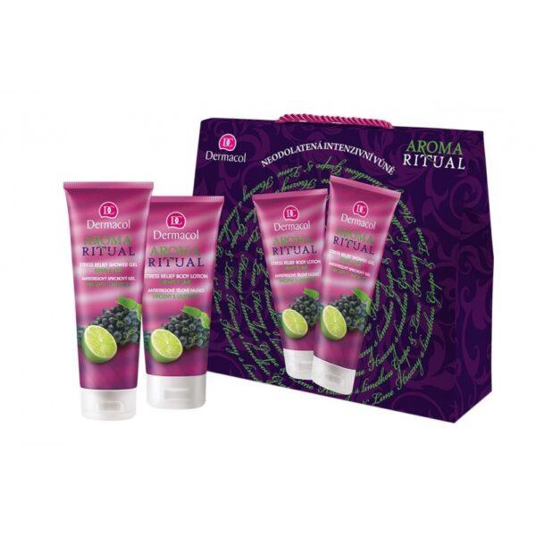 Dermacol Aroma Ritual Grape & Lime (Duššigeel, naistele, 250ml) KOMPLEKT!