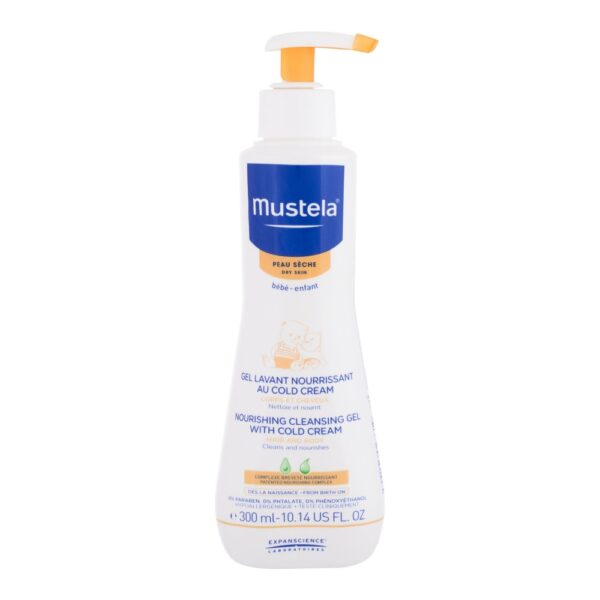 Mustela Bébé Nourishing Cleansing Gel with Cold Cream (Duššigeel, lastele, 300ml)