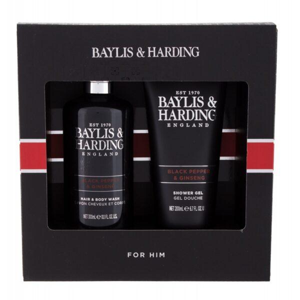 Baylis & Harding For Him Black Pepper & Ginseng Collection (Duššigeel, meestele, 300ml) KOMPLEKT!